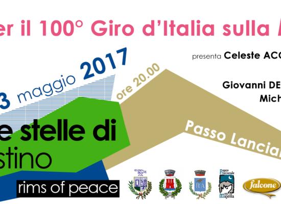 13 Maggio 2017 Festa per il 100° Giro d'Italia sulla Majella_Sotto le stelle di Celestino – Cerchi di Pace
