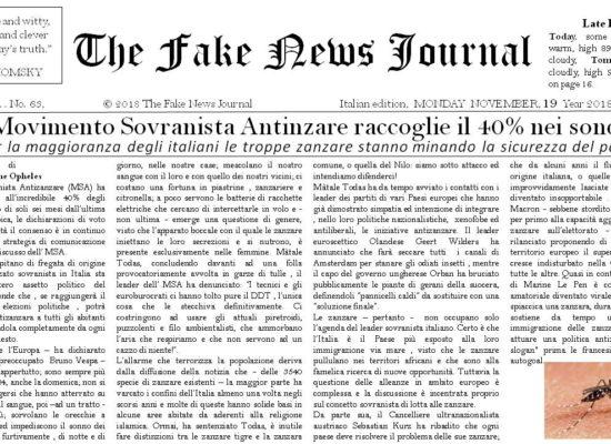 The Fake News Journal November , MONDAY 26 Year 2018