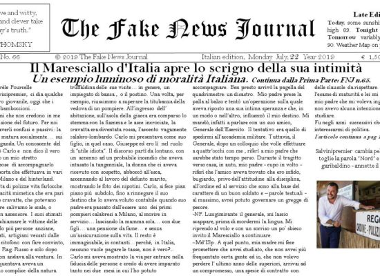 The Fake News Journal July, 22 Year 2019 € 1,50