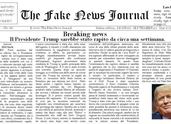 Breaking news:  Il Presidente Trump sarebbe stato rapito da circa una settimana.