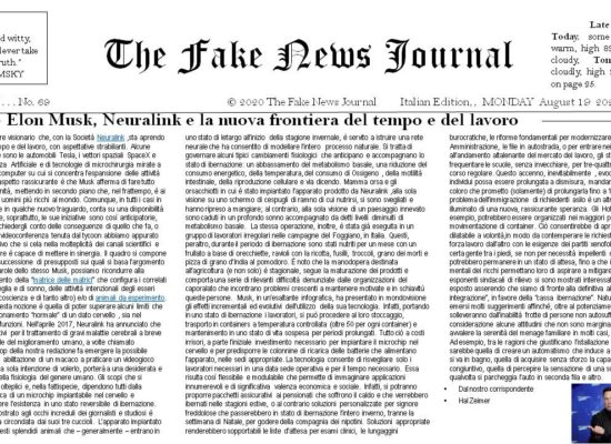 The Fake News Journal August , FRIDAY 19 Year 2021